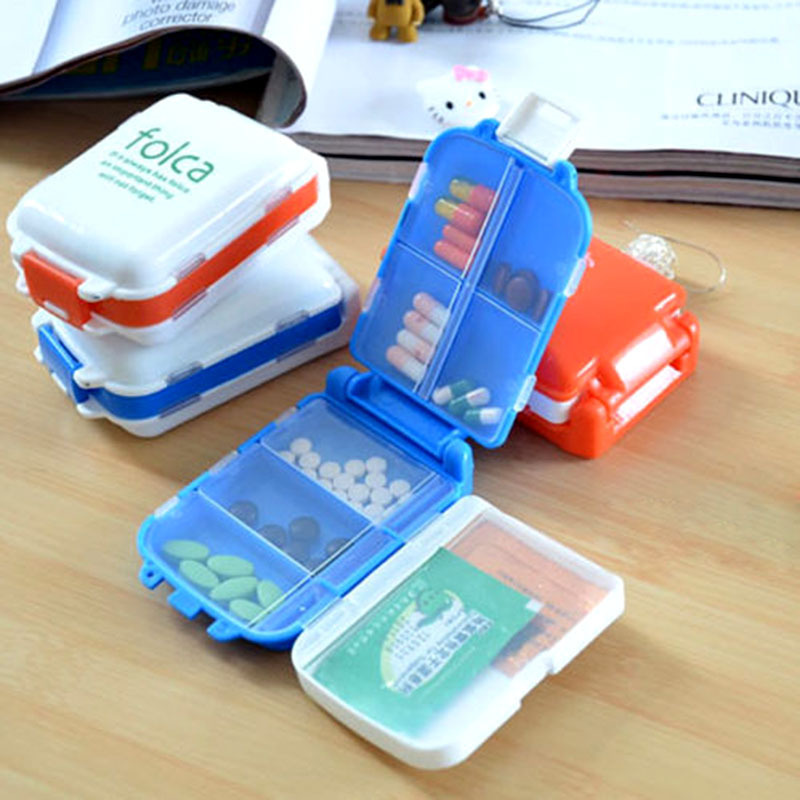 New Weekly Sort Folding Vitamin Medicine Pill Box Makeup Storage Case Container suplementos protein Pill drugs cheap pill box(China (Mainland))