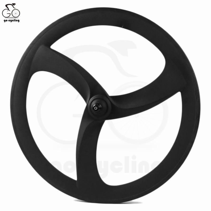 Aero Spoke Cycling Carbon Wheels Clincher 700C Carbon 3 Three Spok Wheels For Track Bicycle Wheels china(China (Mainland))