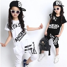 Buy Children Jazz Dance Costumes Girl DJ Dance Clothing Performance Kids Hip-hop Dance Stage Wear Popping Dance Costume Set 89 for $19.46 in AliExpress store