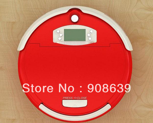 Free Shipping 0.7L Rubbish Box Good Robot Vacuum Cleaner with Clean Time Set+UV+Auto Recharged +Virtual Wall+Remote Controller(China (Mainland))