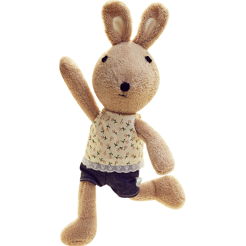 Original Le sucre 30cm kawaii Rabbit plush toys bunny kids toys High-quality Changing clothes Stuffed doll for children toy gift(China (Mainland))
