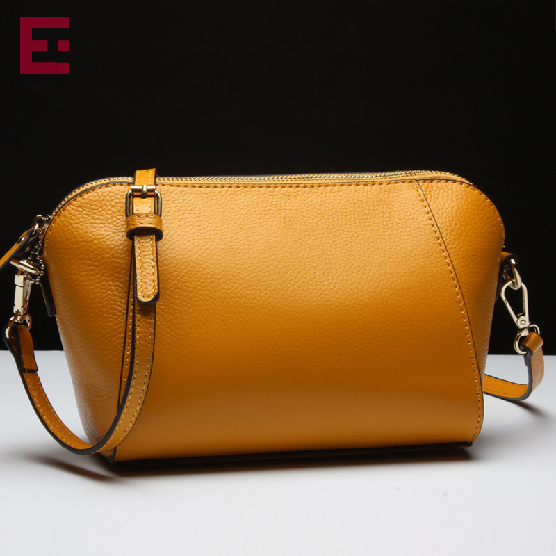 Europe and the United States Fashion bag Vintage Women Leather Messenger bags Genuine leather Handbags Cross body Bucket bags