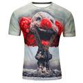 New Brand Different Patterns Funny 3D T Shirts Men Cloud Clown Print Tshirt Fashion O Neck