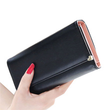 2015 HOT Fashion Lady Women Wallets Popular Purse Long Wallet Bags PU Handbags Coin Purse Card Holder Birthday Party for a Gift