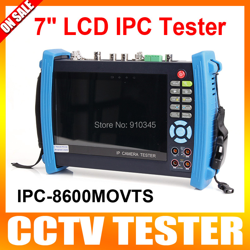 7 Inch Touch Screen CCTV Tester Multifunction Analog IP Camera CCTV Tester UTP Cable Scan WIFI/Ping Test + Visual Fault Locator(China (Mainland))