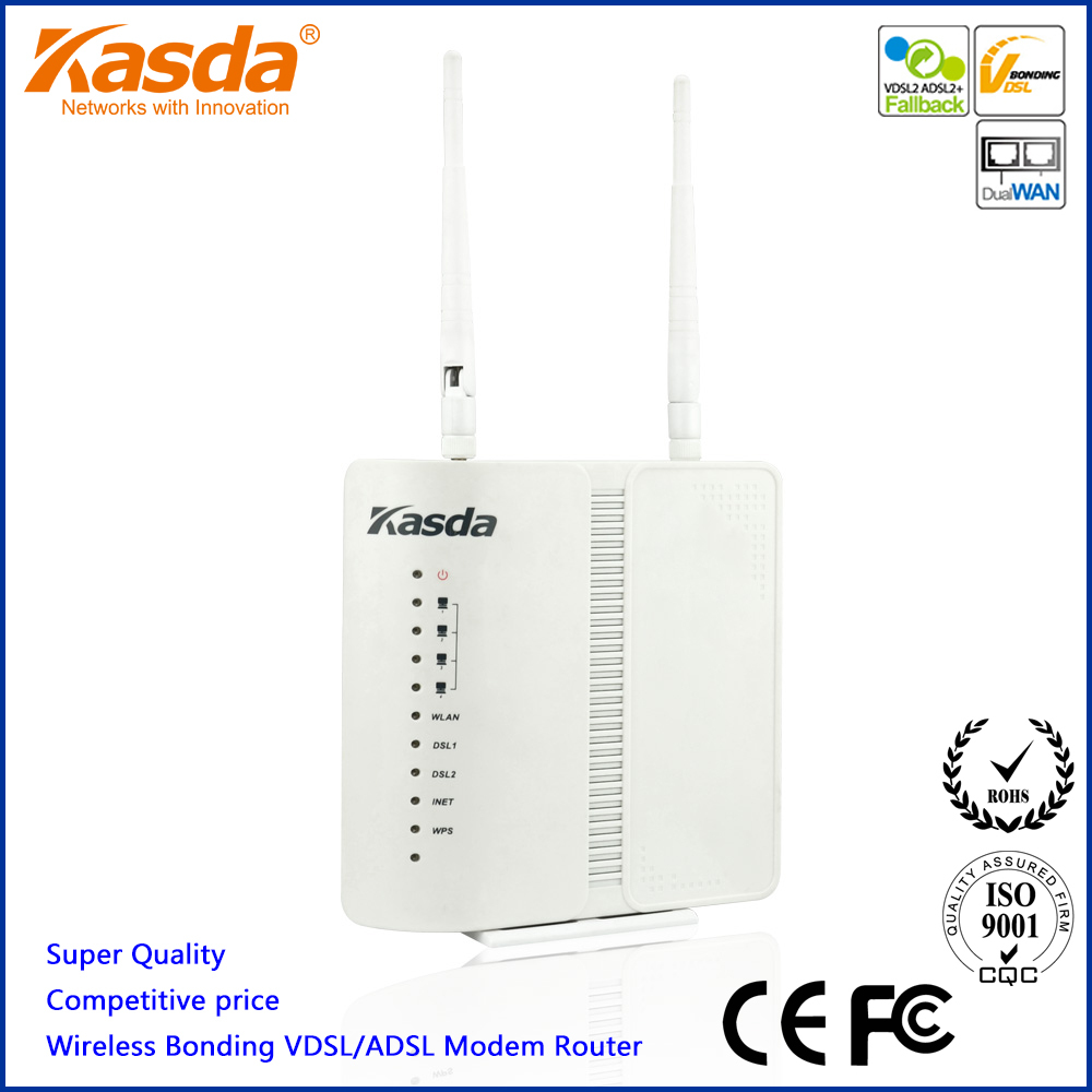 kasda wireless adsl vdsl router bonding modem 300mbps kw5226 with 2 dsl ports usb2 0 in modem. Black Bedroom Furniture Sets. Home Design Ideas