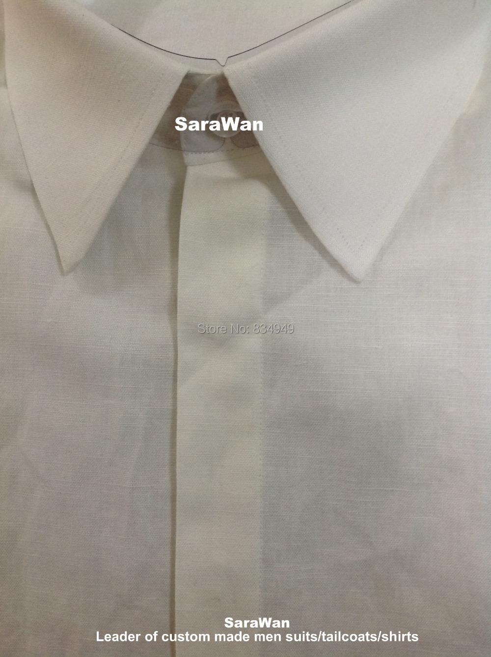 Buy ivory men linen shirt custom made Buy white dress shirt