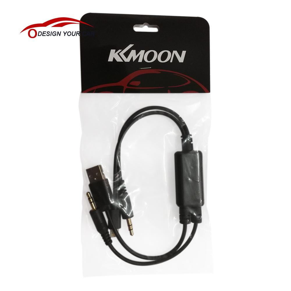 KKmoon Car Auto USB 3.5MM AUX Adapter Interface Cable for BMW MINI Cooper & for iPod iPhone 5 5S 5C(China (Mainland))