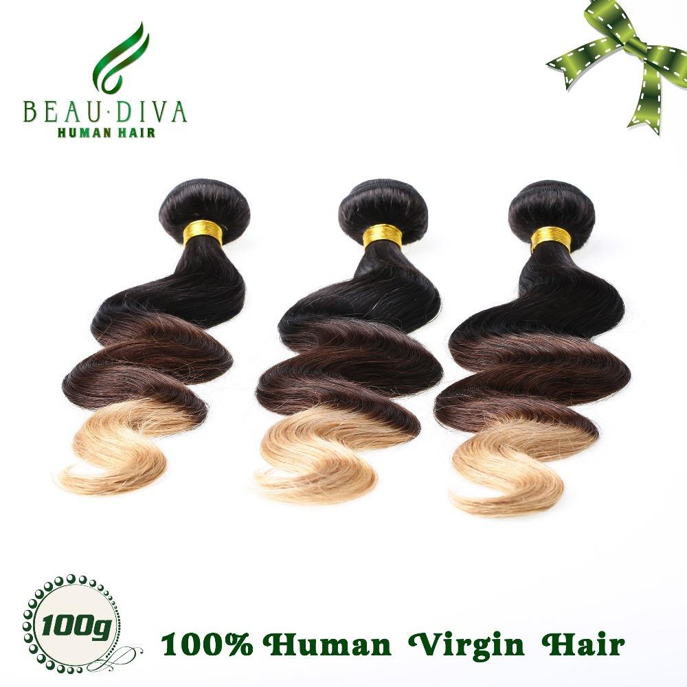 6a Brazilian Ombre Hair Entensions T1b/4/27 Brazilian Body Wave Virgin Hair Good Cheap Ombre Human Hair Weave 3pc Bundle Product<br><br>Aliexpress