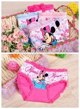 6pcs/lot fashion kids panties girls' briefs female child underwear lovely cartoon panties children clothing(China (Mainland))