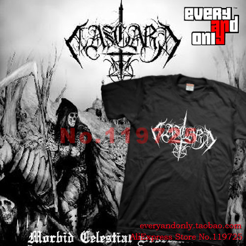 Aasgard Black Metal Band Logo Cotton T-shirt Tee T Greece(China (Mainland))