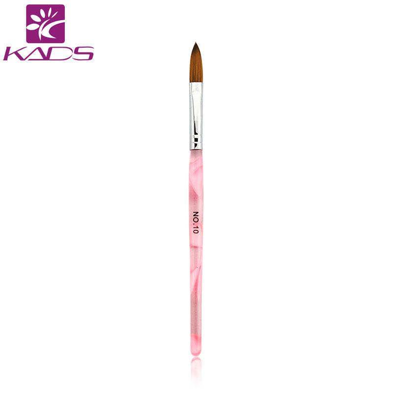 KADS 10pcs Size 10# Pink Acrylic Nail Brushes DIY Nail Brush Tools For Nail Art Design Amazing Nail Painting Pen Art Brush(China (Mainland))