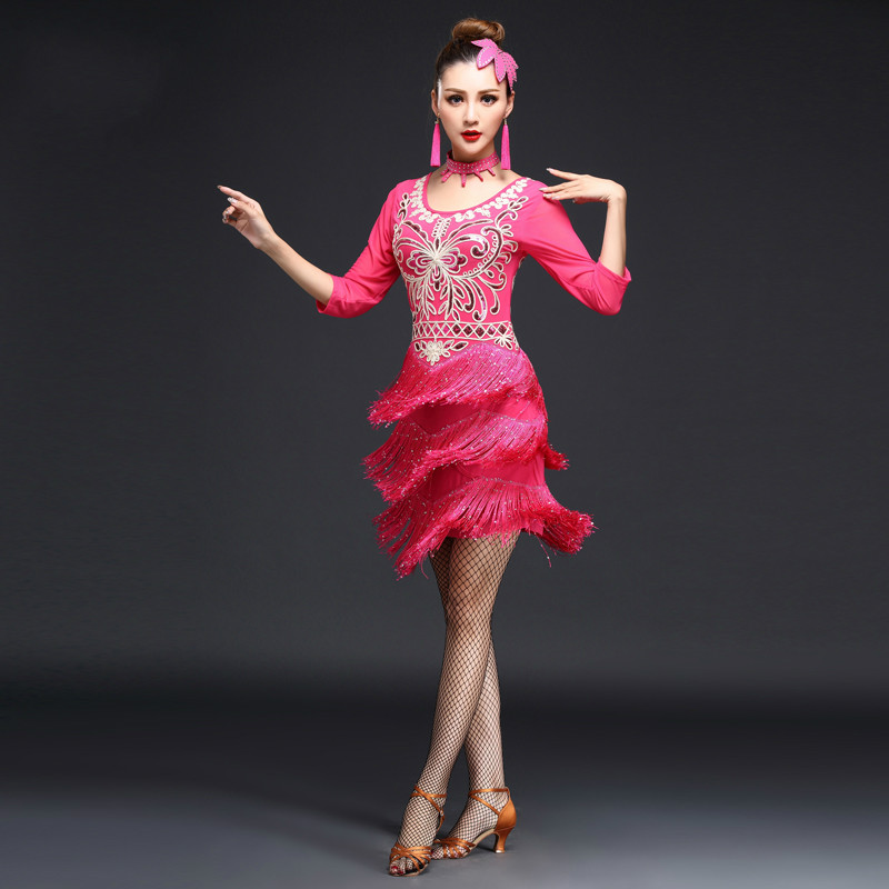 Latin dance competition costumes