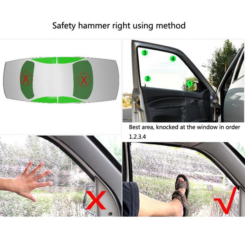 Быстрая доставка 2 в 1 ремней безопасности резак окна выключатель побег инструмент безопасности автомобиля молоток пластик + металл 2 шт. удобный