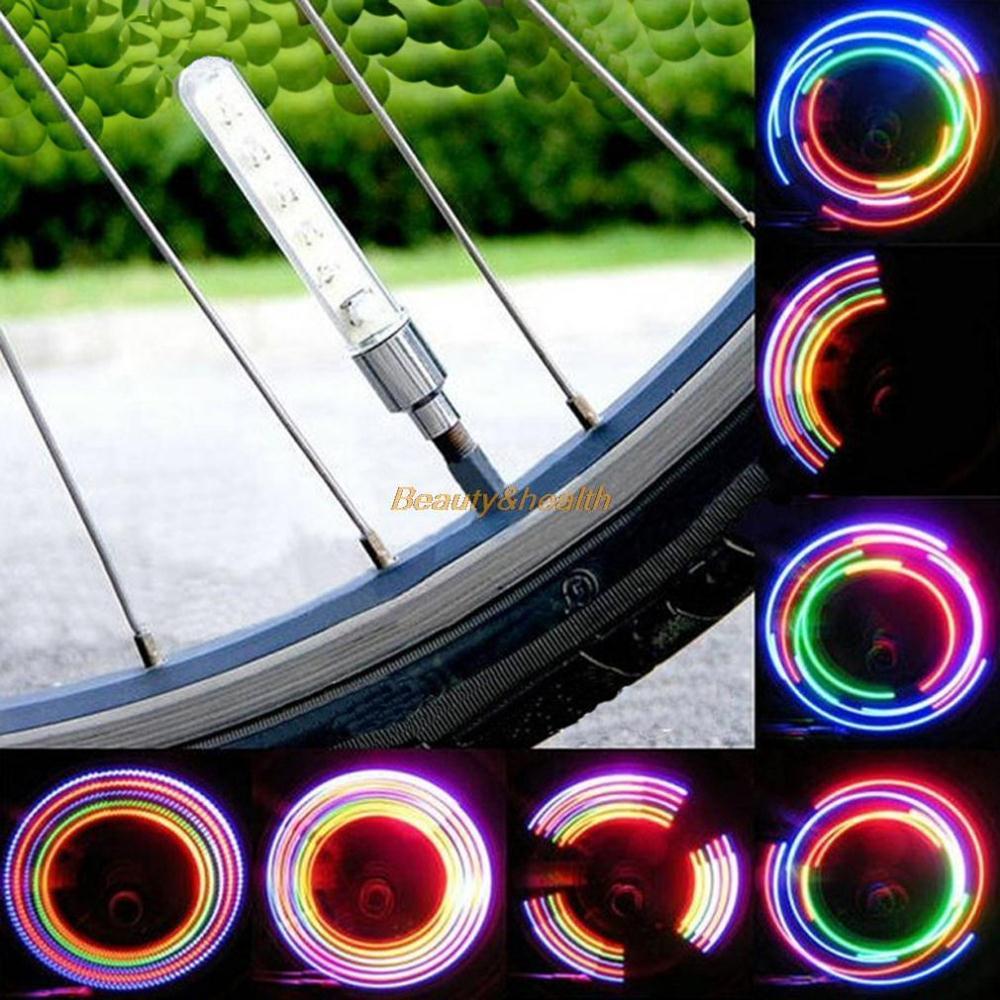 Colorful Cycling Bicycle Bike Motor Motorcycle Car Tyre Tire Wheel Valve Cap Spoke 5 LED Flash Light Sense Lamp(China (Mainland))