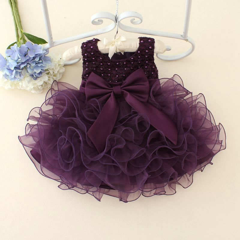 2017 Summer New Born Baby Girl Dresses Pearls Bow Multilayered luxurious Dress Christening Gown Baby Tutu Dress 0-2 Years Old(China (Mainland))