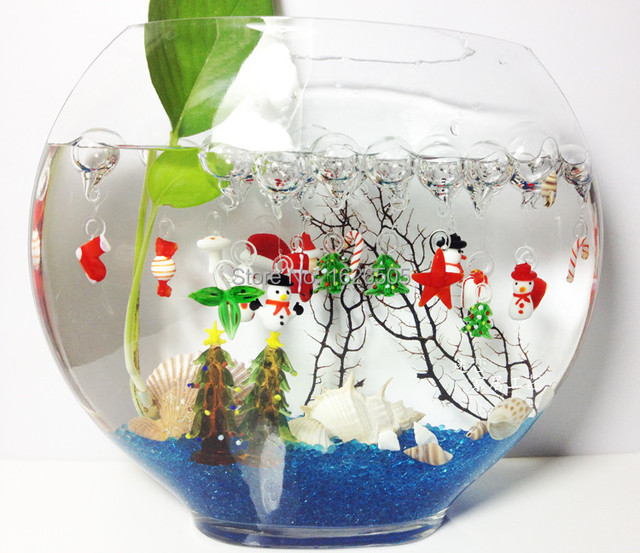European style fish tank ornaments aquarium decorations a set of child glass crafts fish tank - Fish tank christmas decorations ...