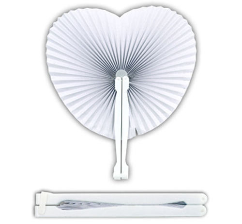 [Health Life Smile] 1Ps Heart Folding Paper Fans - Chinese Wedding Party Bag Fillers Kids(China (Mainland))