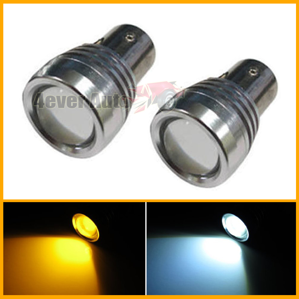 2pcs Super Bright White/Amber High Power 1157 2057 2357 7528 Switchback LED Bulbs For Turn Signal Lights<br><br>Aliexpress