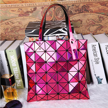 2016 Diamond Lattice laser Fold Over Bags Brand Bao Women Handbags Shopper Bag Shoulder Bags Totes
