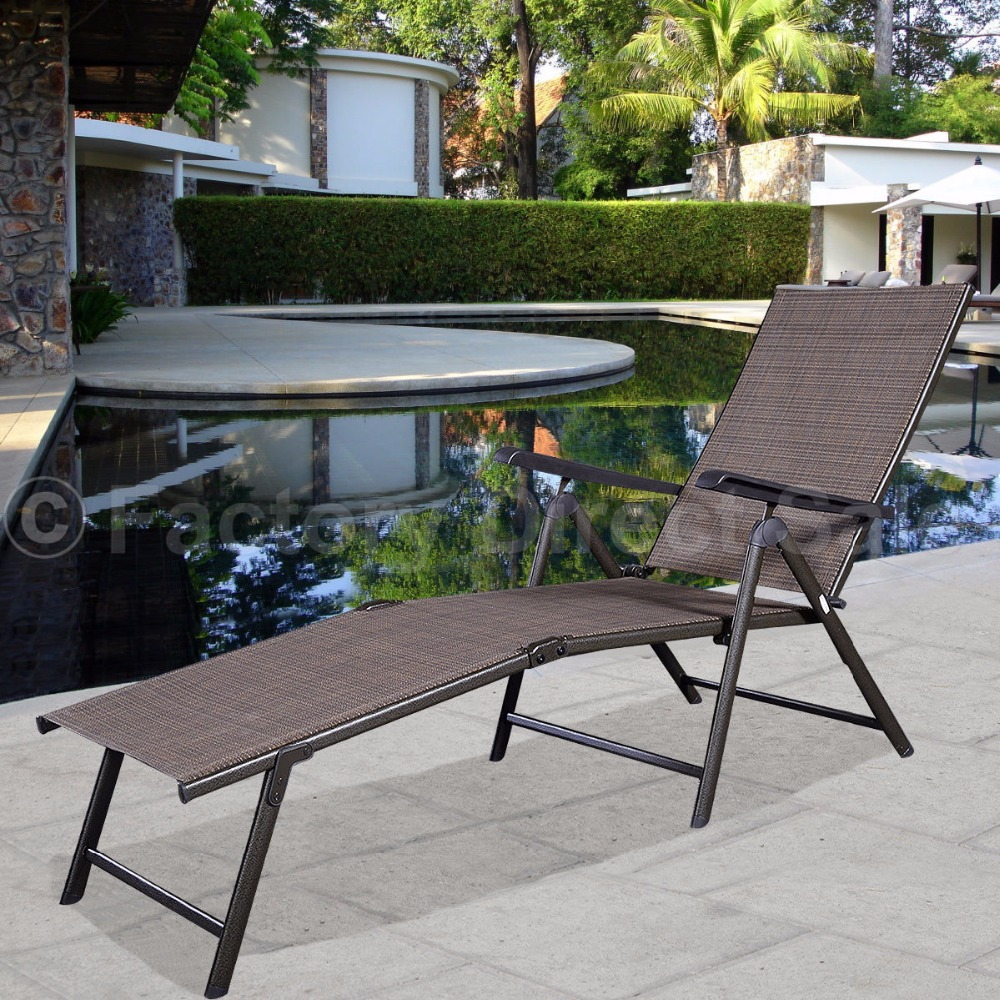 Pool Chaise Lounge Chair Recliner Outdoor Patio Furniture Adjustable  HW49889(China (Mainland))