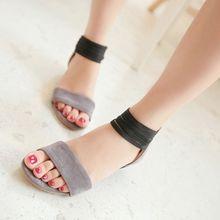 Лето 2014, обувь больших размеров 34-43, модные женские сандалии из удобной ткани, на плоской платформе, бесплатная доставка