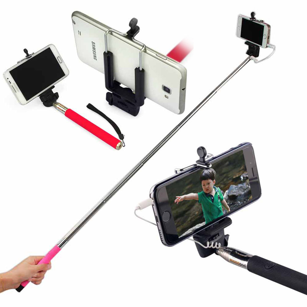 handheld wired 24 100cm selfie stick accessory for iphone extendable monopod self camera for. Black Bedroom Furniture Sets. Home Design Ideas