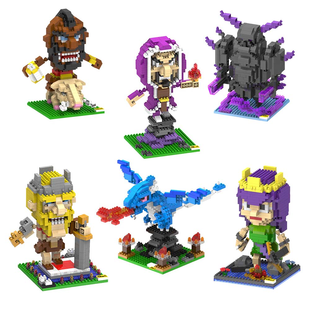 Clash of Clans COC Action Figures Model Barbarian Dragon PEKKA Solider Toys Minifigures Blocks Gifts Collection(China (Mainland))