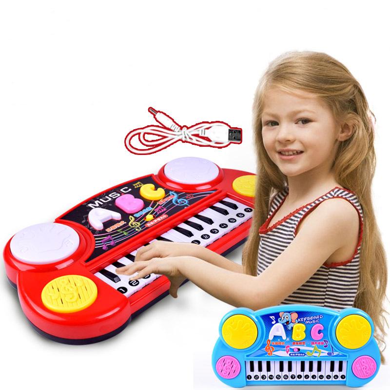 Baby Kids Musical Organ Electronic Organ Keyboard Hand Beat Pat Drum Piano Educational Development Music Instrument Toy(China (Mainland))