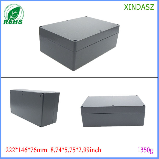 Aluminum project enclosure case electronic box aluminum extruded 222*146*76mm 8.74*5.75*2.99inch - Shenzhen Futian District Xinda Electronics Sale Department store