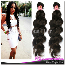 "8"" to 40"" 3pcs lot Double Weft  Unprocessed 100% Virgin Peruvian Natural Wave Hair Extension"