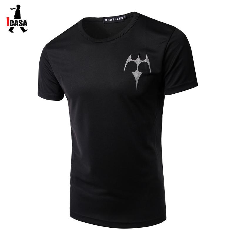 2016 New Fashion Brand Mens Short Sleeve Tattoo Printing T shirt Casual Baseball Sports Male T-shirt Man O-neck Undershirt(China (Mainland))