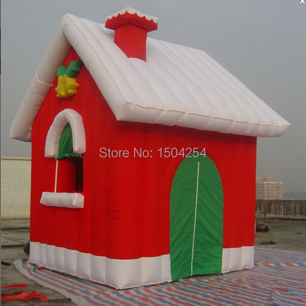 Toy house inflatable Christmas house for Christmas festival