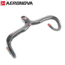 Buy Carbon Handlebar Road Bike Handlebars AERONOVA Road Bike Integrated Handlebar Carbon Drop Handlebars 3K Gloss 400/420/440mm for $53.76 in AliExpress store