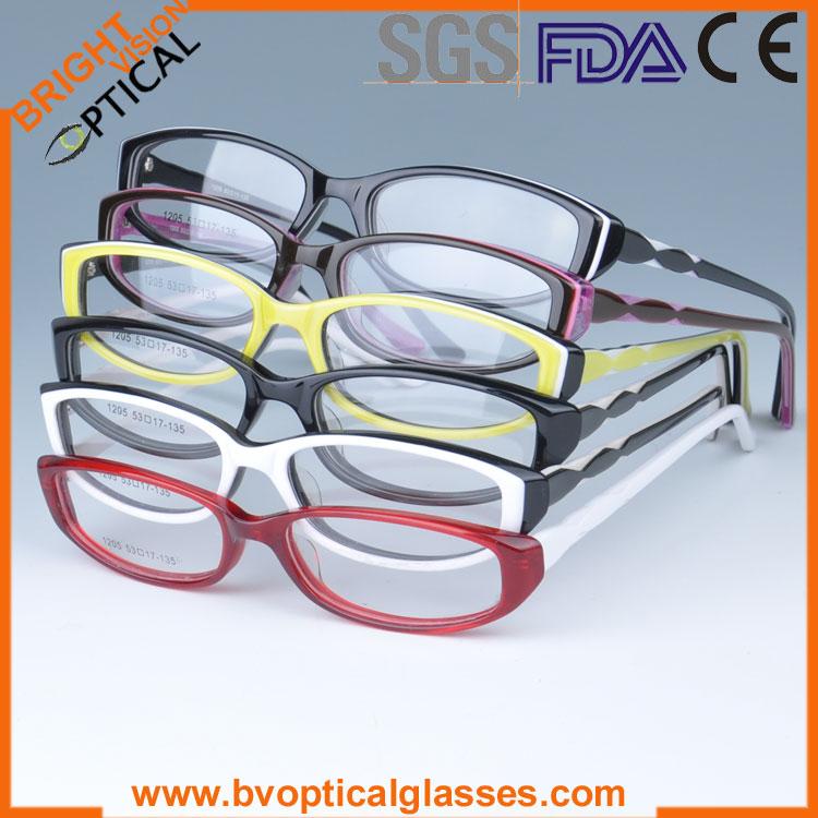 Most hot 1205 full rim middle size acetate prescription glasses in stock(China (Mainland))