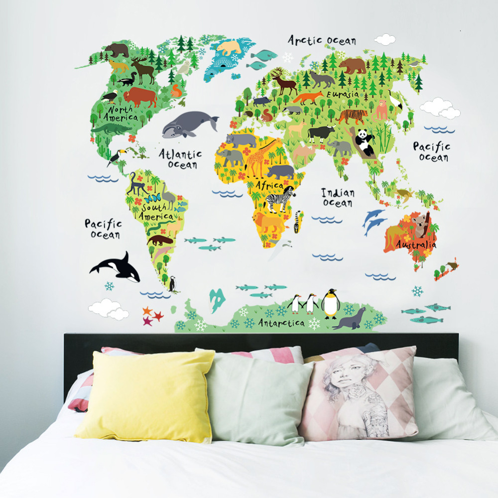Comwall Decals For Kids Room : wall stickers for kids rooms living room home decorations pvc decal ...