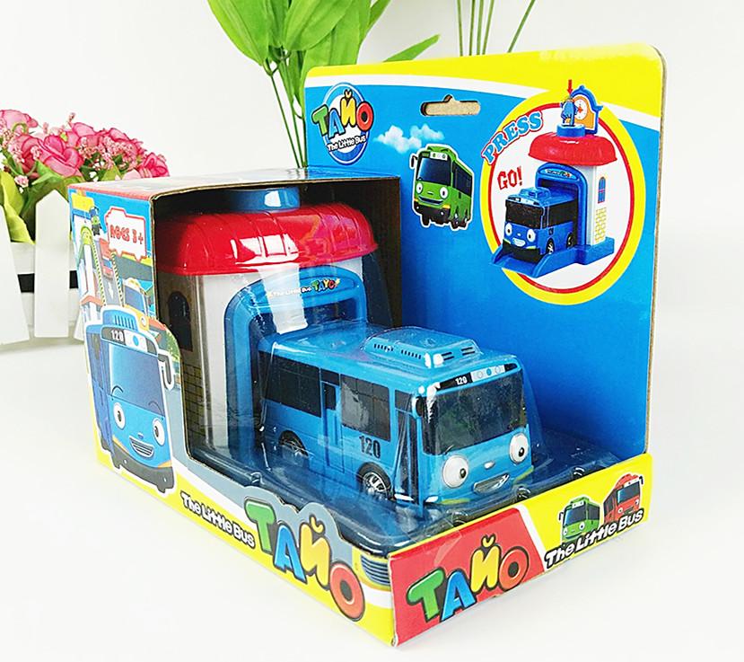 One piece Korean Cute Cartoons garage tayo the little bus model mini tayo plastic baby oyuncak araba car for kids Christmas gift(China (Mainland))