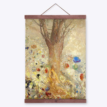 Fantasy Odilon Redon Impressionism Zen Buddha A4 Art Print Poster Abstract Wall Picture Canvas Oil Painting No Framed Home Decor(China (Mainland))