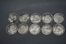 Rare old Chinese silver coin,Republic of China the first year to the decade Currency,Yuan bulk,10 piece/sets,Free shipping(China (Mainland))