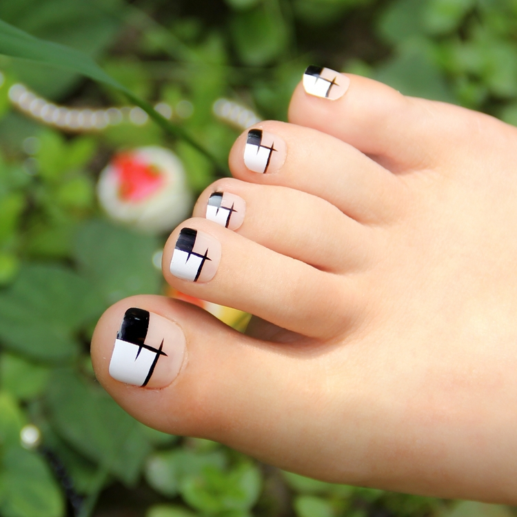 Toe Nail Designs White Tips: Pics for gt black and purple nails ...