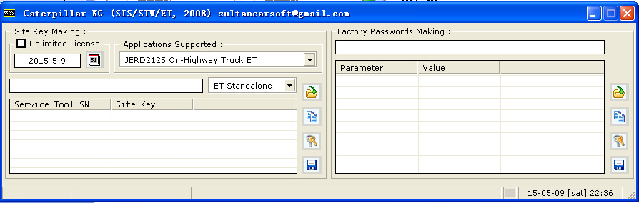 hot sale cat Factory Password keygen generator for et 2011B free shipping by email(China (Mainland))