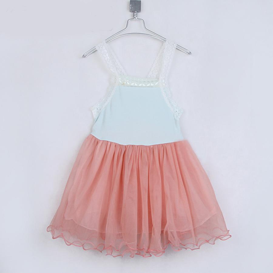 summer dream yarn little girls suspender dress sleeveless ruched clothing baby girls tank suspender dress A1129(China (Mainland))