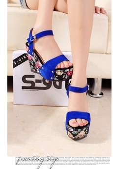 Free shipping Fish head high-heeled sandals, summer fashion elements 3 colors,Size 35-40.