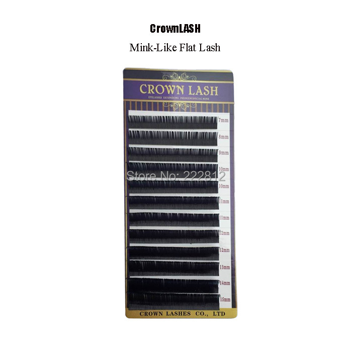 Crownlash Mink-Like Flat Lash Extension 7-15mm mixed size tray Ultra soft <br><br>Aliexpress