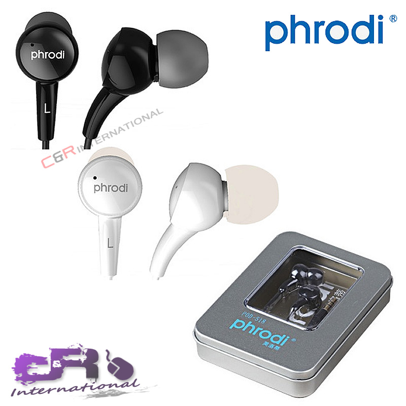 Phrodi High Quality Solid Bass InEar Earphones Universal No Mic and Button Compatible Smart Phones MP3 MP4 Laptop PC POD518(China (Mainland))