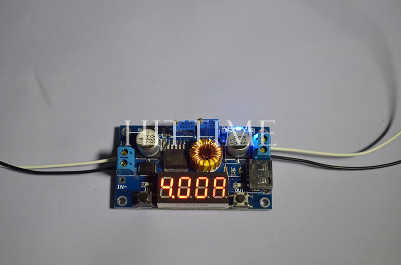 New Practical 5A CC/CV Adjustable Power Step-down Charge Module LED Driver W/ USB Voltmeter #61129(China (Mainland))