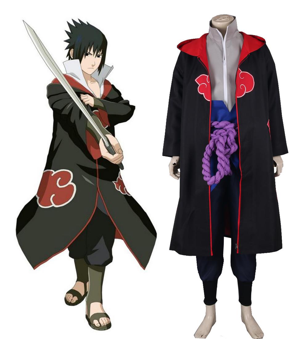 Free Shipping Naruto Shippuden Uchiha Sasuke Eagle Organization Uniform Suit Anime Cosplay Costume(China (Mainland))