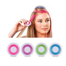 1 Компл. 4 цветов Краски для волос мучнистой cakeTemporary Волос Мел Порошок Dye Мягкие Пастели Салон Партия Рождество DIY(China (Mainland))