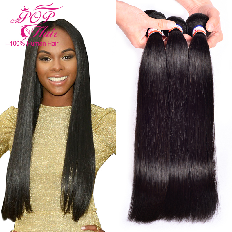6A unprocessed malaysian straight hair 3pcs/lot Rosa hair products malaysian virgin hair straight 8