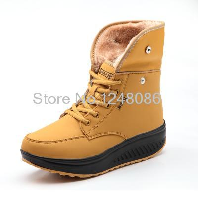 2014 new winter female cotton-padded shoes warm leather sports shoes fashion comfortable single shoes hot sale B776
